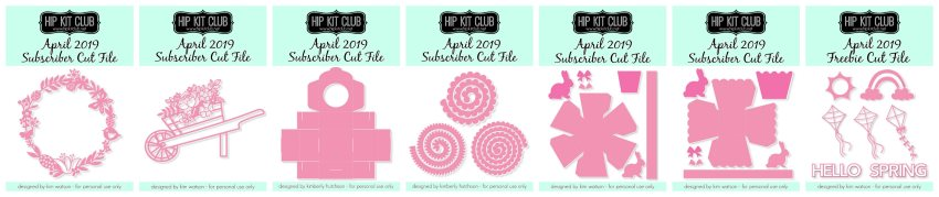 April 2019 Cut Files