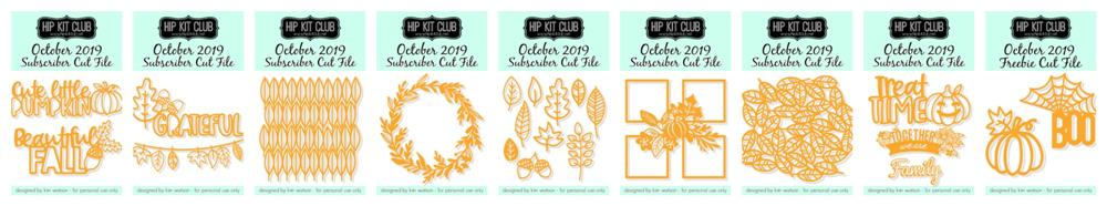 October 2019 Hip Kit Club Cut Files