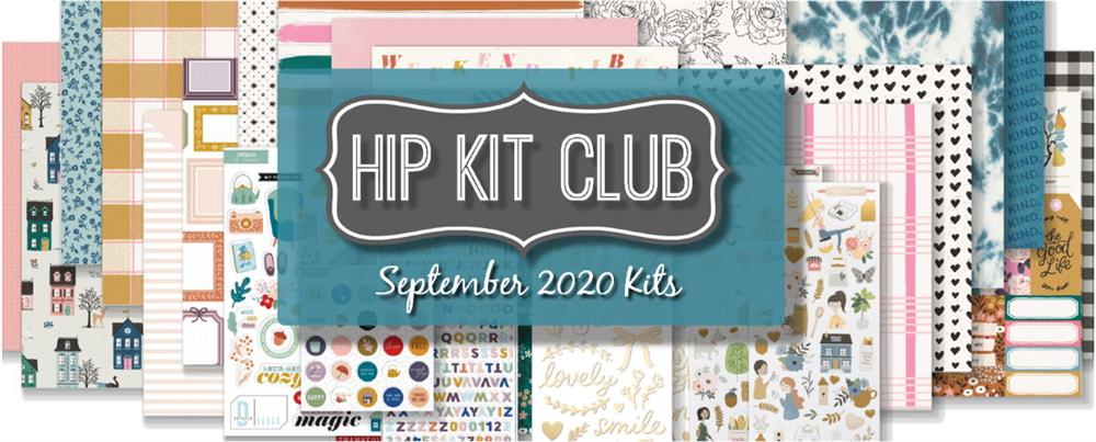 September 2020 Hip Kit Club Scrapbooking Kits