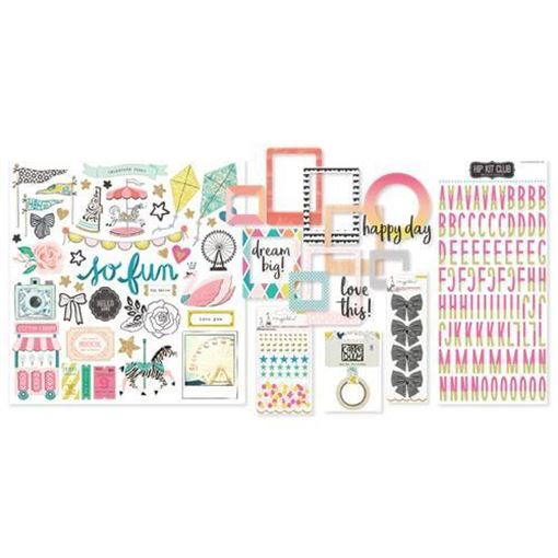 August 2017 Hip Kit Club Embellishment Scrapbook Kit