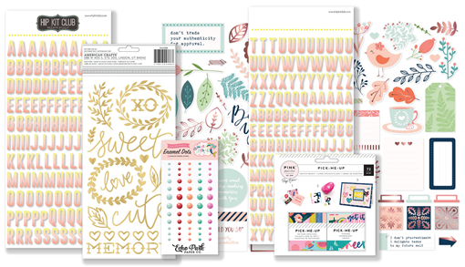 April 2018 Hip Kit Club Embellishment Scrapbook Kit