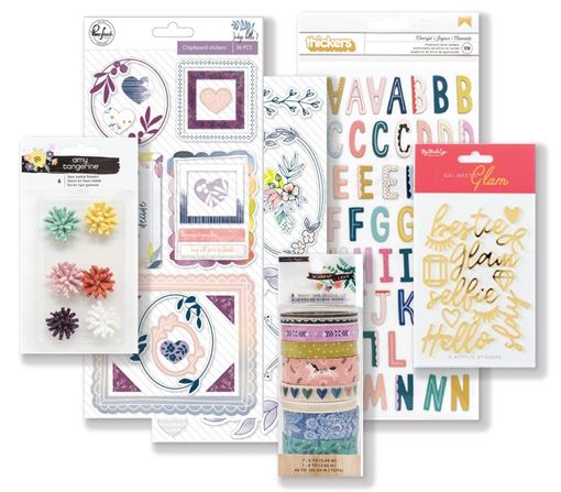 September 2018 Hip Kit Club Embellishment Scrapbooking Kit
