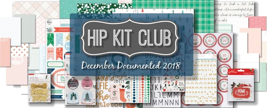 2018 Hip Kit Club December Documented Scrapbook Kit