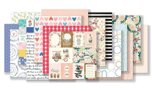February 2019 Hip Kit Club Paper Scrapbook Kit