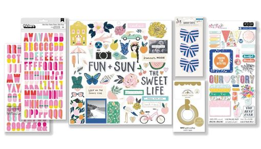March 2019 Hip Kit Club Embellishment Scrapbook Kit
