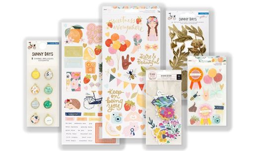 April 2019 Hip Kit Club Embellishment Scrapbook Kit