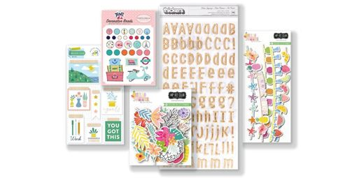July 2019 Hip Kit Club Embellishment Scrapbook Kit