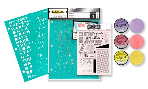 August 2019 Hip Kit Club Color Scrapbook Kit