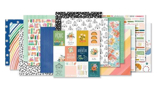 September 2019 Hip Kit Club Paper Scrapbook Kit