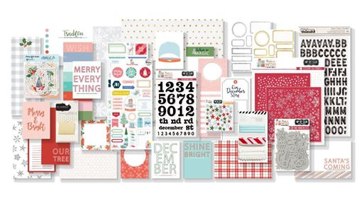 2019 Hip Kit Club December Documented Scrapbook Kit